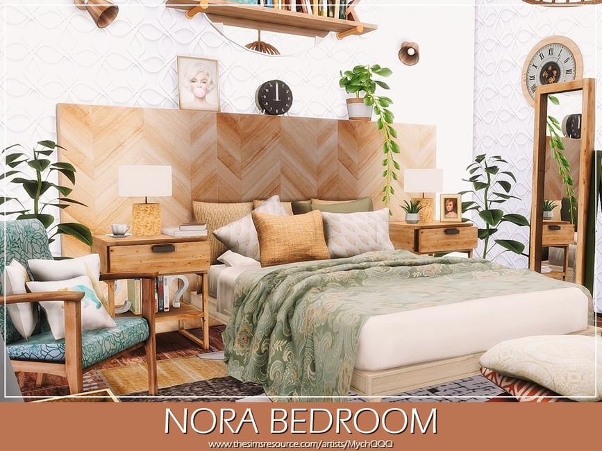 Спальня Nora Bedroom Симс 4