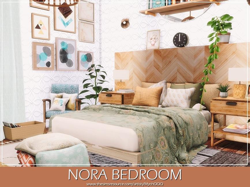 Спальня Nora Bedroom Симс 4 (картинка 3)