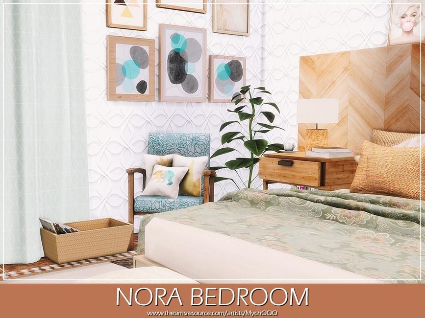 Спальня Nora Bedroom Симс 4 (картинка 4)