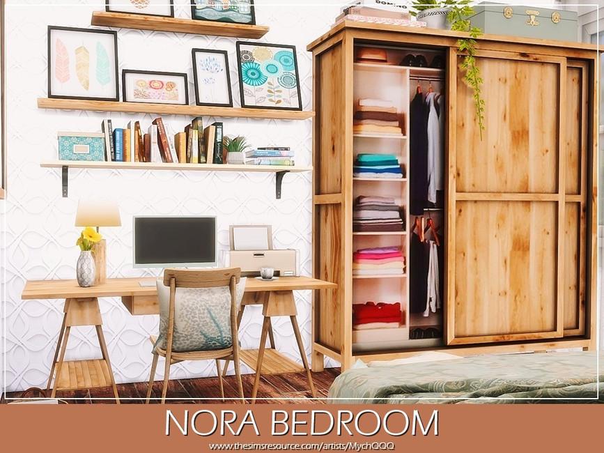 Спальня Nora Bedroom Симс 4 (картинка 5)