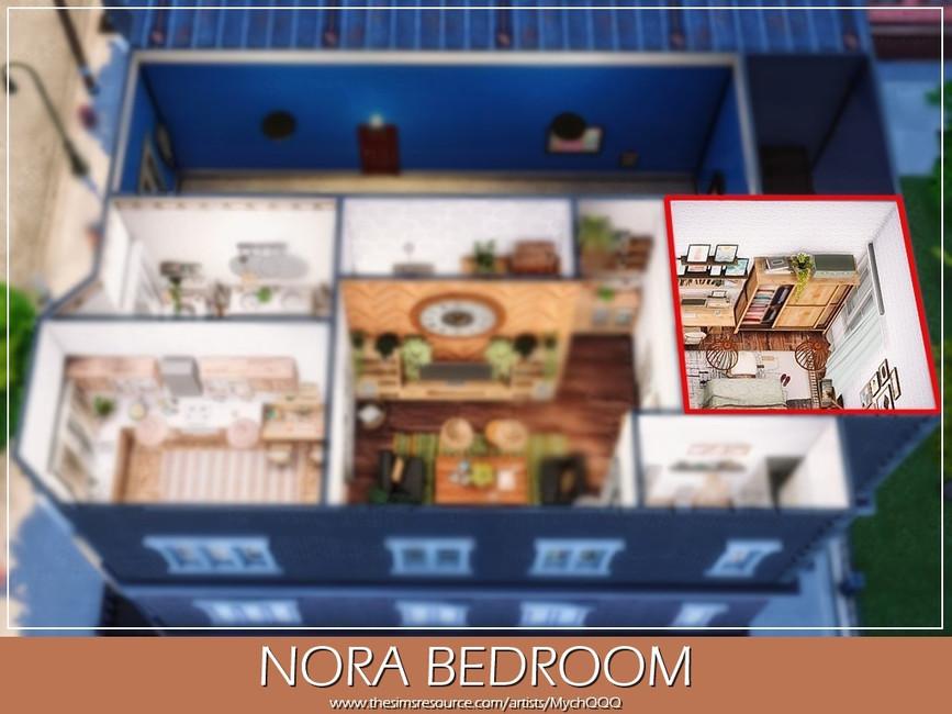 Спальня Nora Bedroom Симс 4 (картинка 6)
