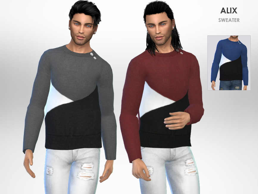 Свитер Alix Sweater Симс 4