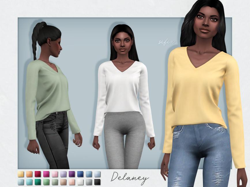 Свитер Delaney Sweater Симс 4