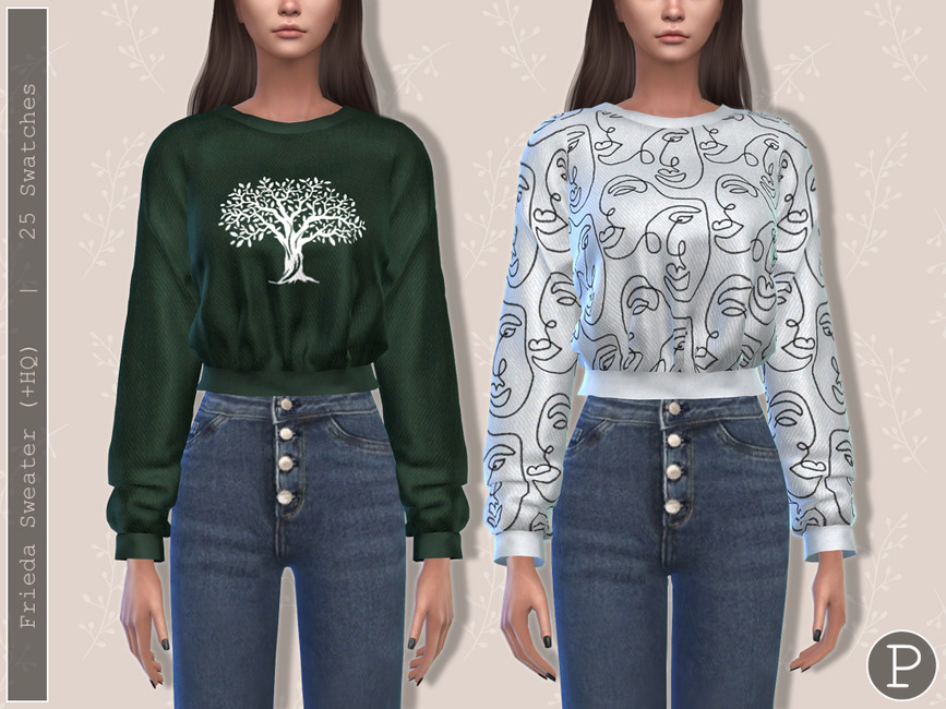 Свитер Frieda Sweater Симс 4