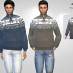 Свитер Knit Pullover Симс 4