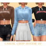 Толстовка Casual Crop Hoodie 07 Симс 4