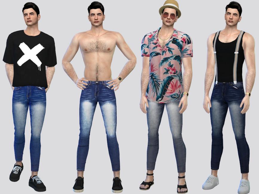 Узкие джинсы для Симс 4