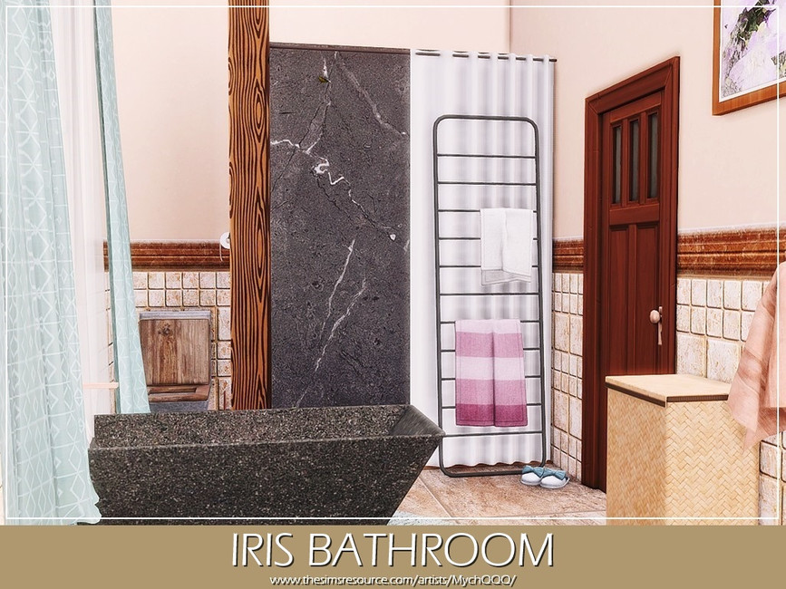 Ванная Iris Bathroom Симс 4 (картинка 3)