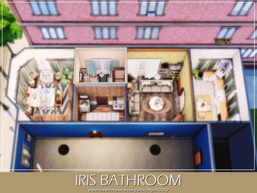 Ванная Iris Bathroom Симс 4 (картинка 5)