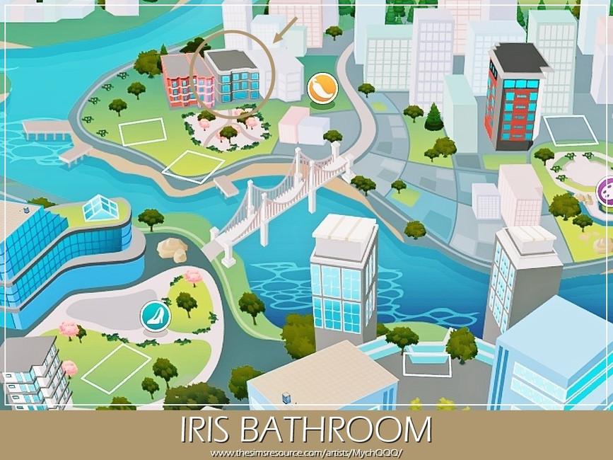 Ванная Iris Bathroom Симс 4 (картинка 6)