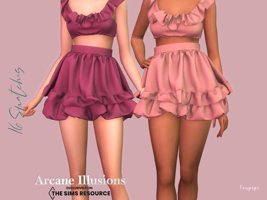 Юбка Ruffle Skirt для Симс 4