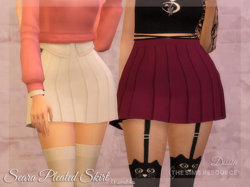 Юбка Seara Pleated Skirt Симс 4