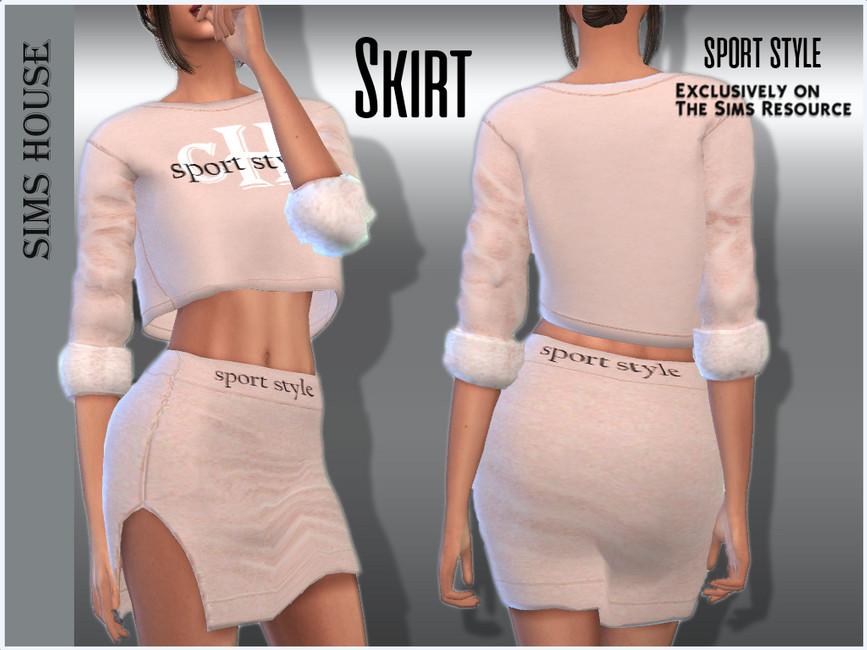 Юбка Skirt Sport Style Симс 4