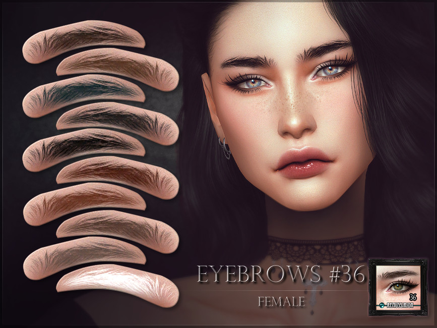Женские брови Eyebrows 36 - Female Симс 4