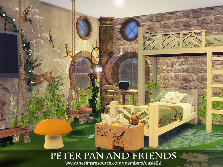 Детская комната Peter Pan and Friends Симс 4