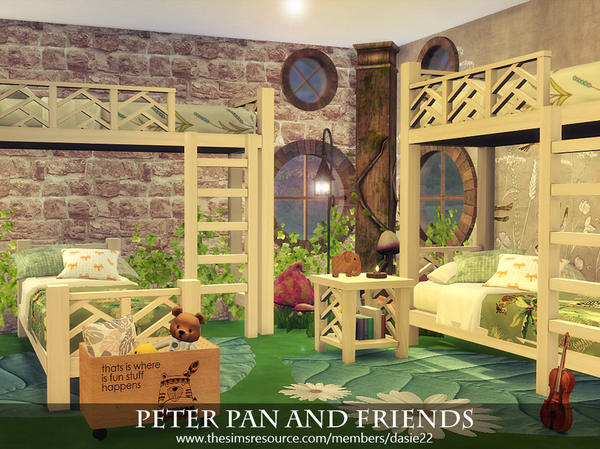 Детская комната Peter Pan and Friends Симс 4 (картинка 3)