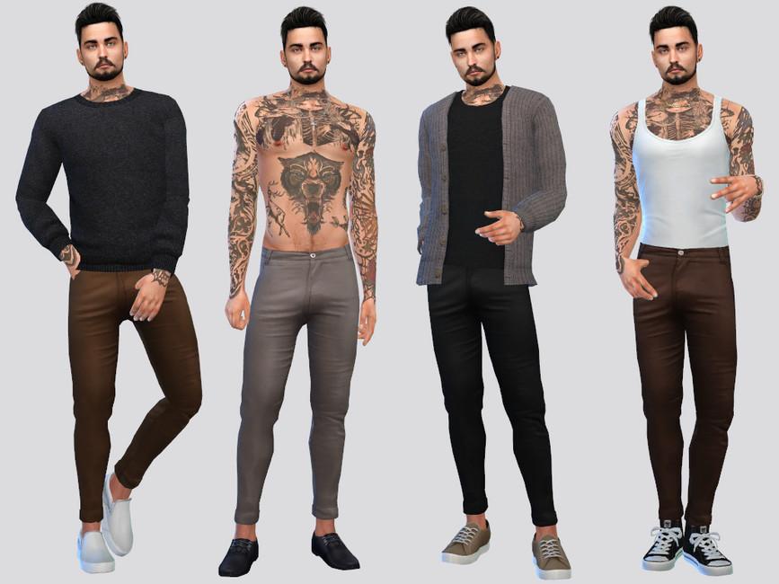 Мужские брюки Holland Casual Chinos Симс 4