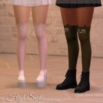 Носки Meow High Socks Симс 4