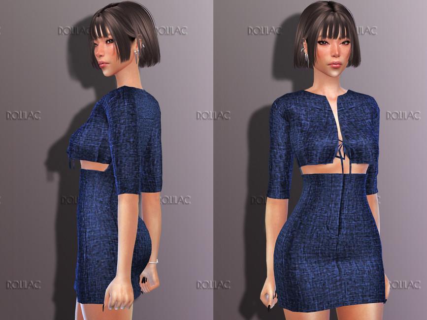 Платье Cutout Dress DO197 Симс 4