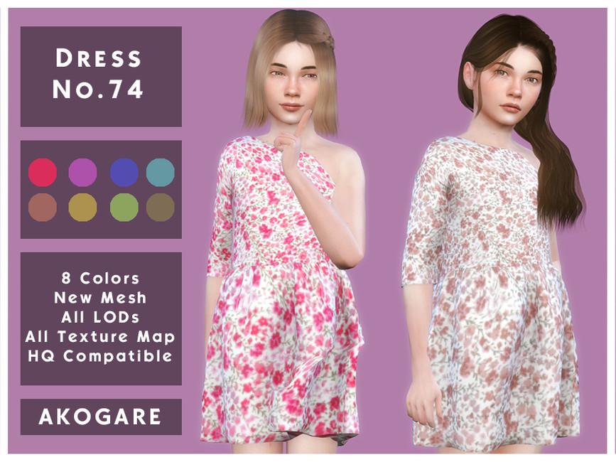 Платье для детей Dress No 74 Симс 4