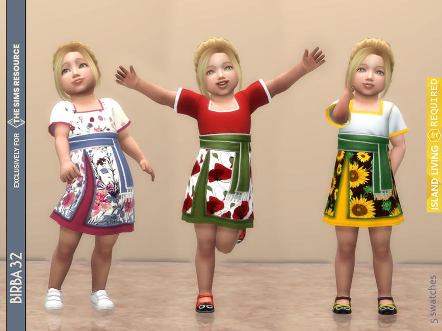 Платье для малышей Sulani Toddler Dress Симс 4