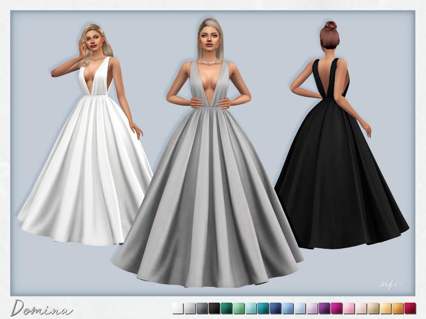 Платье Domina Dress Симс 4