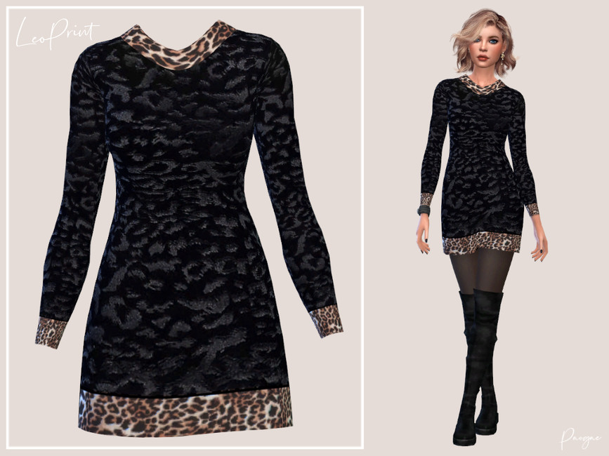 Платье LeoPrint Симс 4