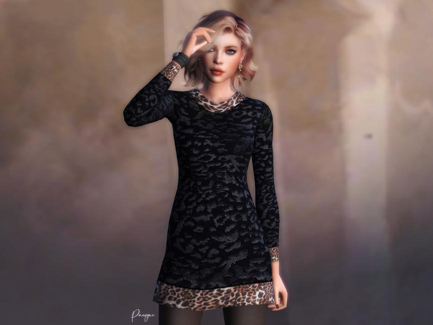 Платье LeoPrint Симс 4 (картинка 2)