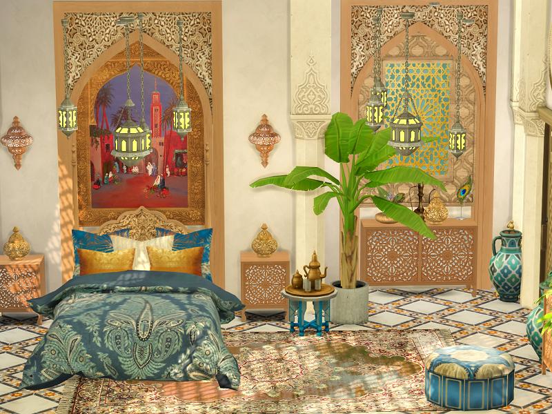 Спальня Orient Bedroom Симс 4