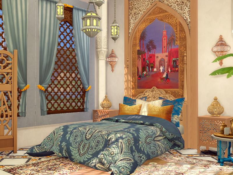 Спальня Orient Bedroom Симс 4 (картинка 3)