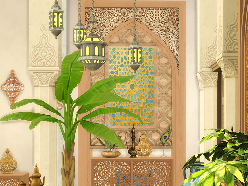 Спальня Orient Bedroom Симс 4 (картинка 4)