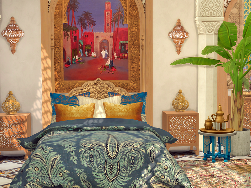 Спальня Orient Bedroom Симс 4 (картинка 5)