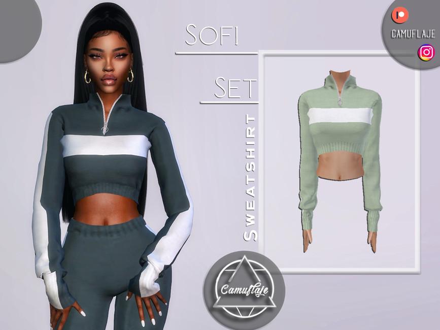 Толстовка Sofi Set - Sweatshirt Симс 4